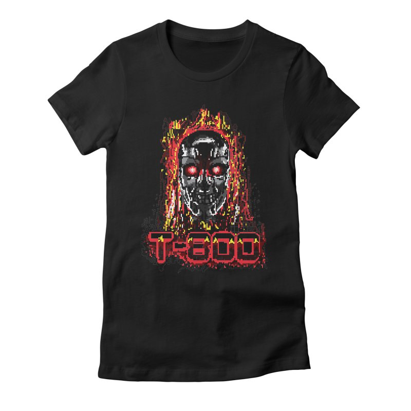 T-800 Women's Fitted T-Shirt by quadrin's Artist Shop