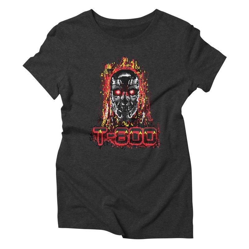 T-800 Women's Triblend T-Shirt by quadrin's Artist Shop