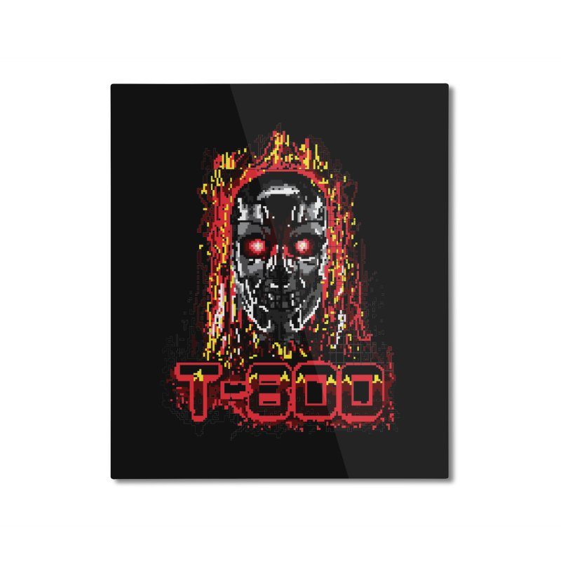 T-800 Home Mounted Aluminum Print by quadrin's Artist Shop