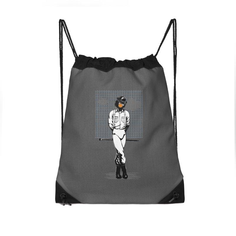 Son of Man Accessories Drawstring Bag Bag by quadrin's Artist Shop