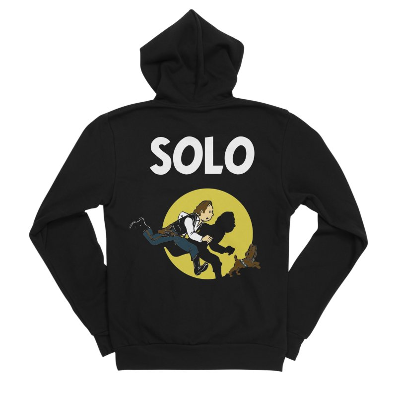 Solo Tintin Men's Sponge Fleece Zip-Up Hoody by quadrin's Artist Shop