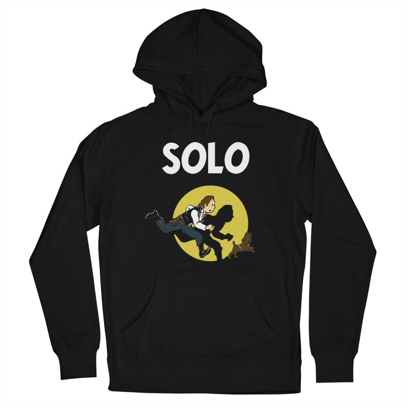 Solo Tintin Men's French Terry Pullover Hoody by quadrin's Artist Shop