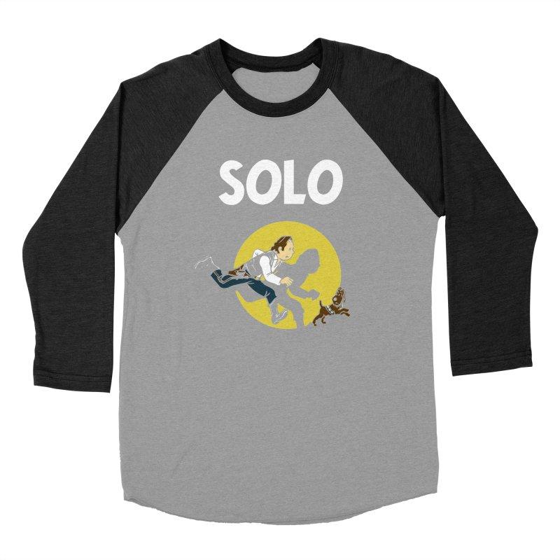Solo Tintin Women's Baseball Triblend Longsleeve T-Shirt by quadrin's Artist Shop