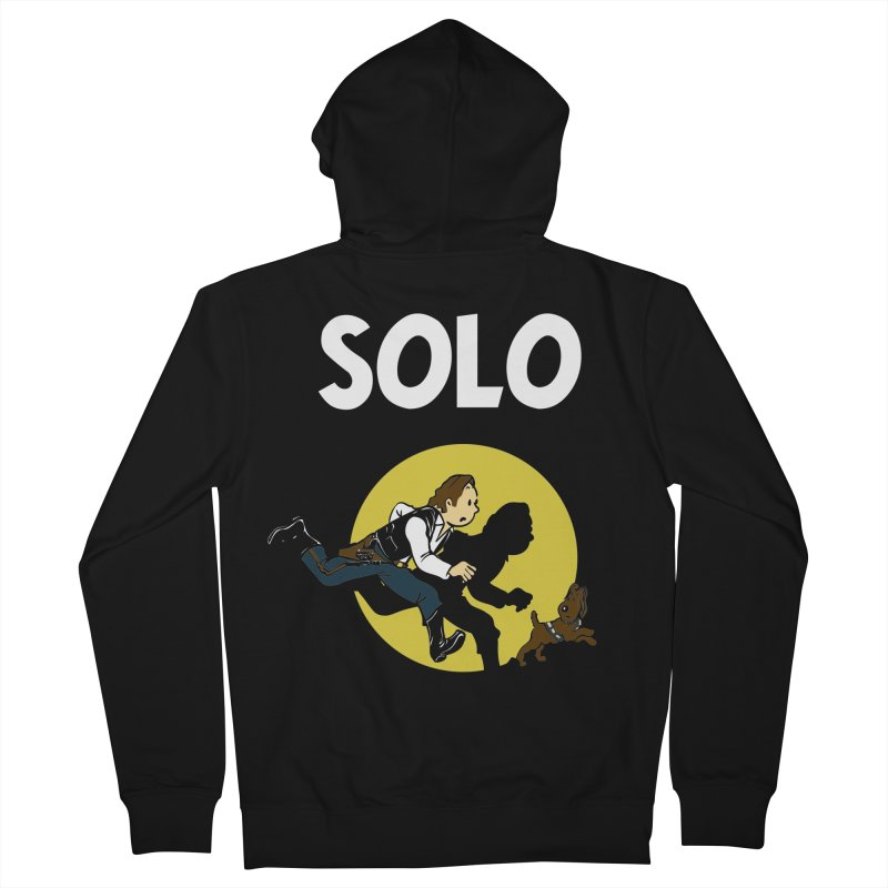 Solo Tintin Men's French Terry Zip-Up Hoody by quadrin's Artist Shop