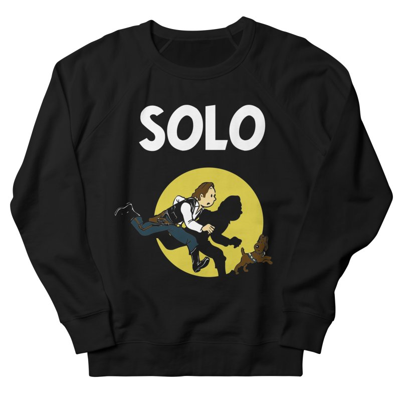 Solo Tintin Men's French Terry Sweatshirt by quadrin's Artist Shop