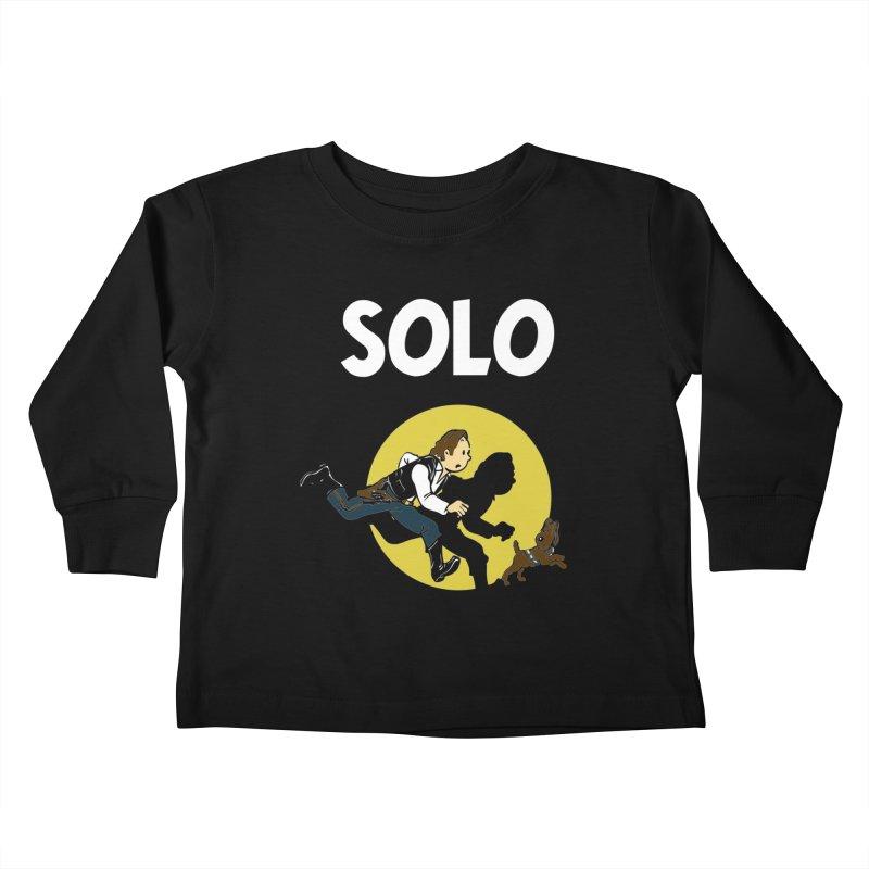 Solo Tintin Kids Toddler Longsleeve T-Shirt by quadrin's Artist Shop