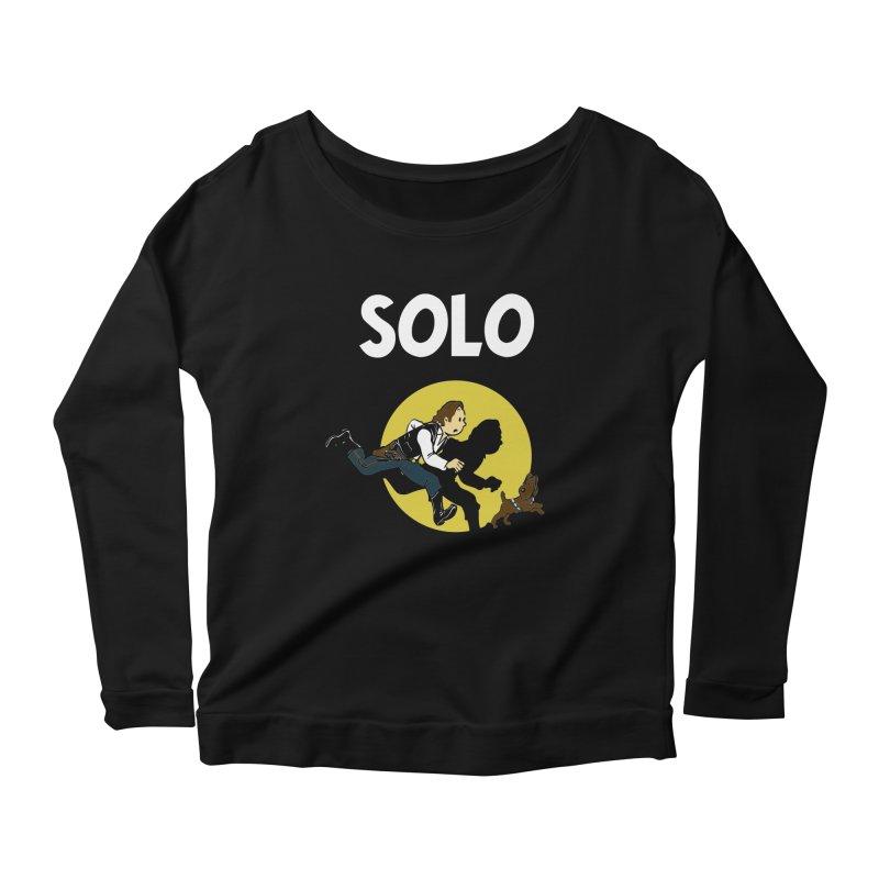 Solo Tintin Women's Scoop Neck Longsleeve T-Shirt by quadrin's Artist Shop