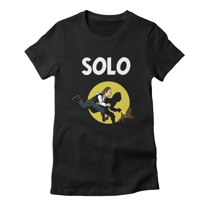 Solo Tintin Women's Fitted T-Shirt by quadrin's Artist Shop