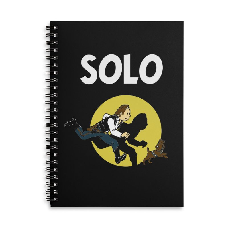 Solo Tintin Accessories Lined Spiral Notebook by quadrin's Artist Shop
