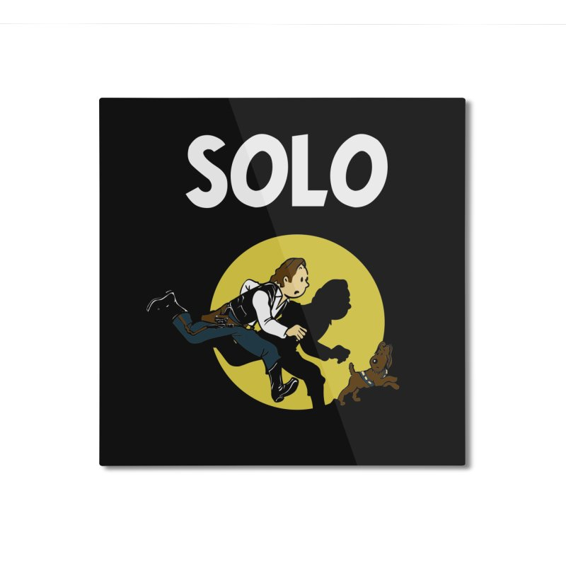 Solo Tintin Home Mounted Aluminum Print by quadrin's Artist Shop