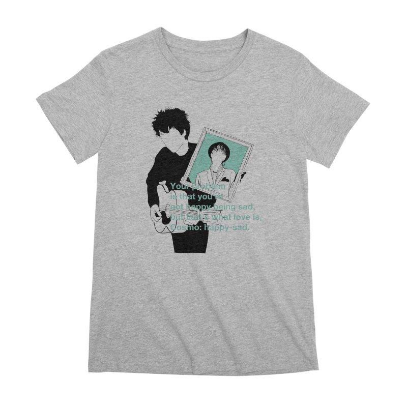 Cosmo: Happy-sad Women's Premium T-Shirt by quadrin's Artist Shop