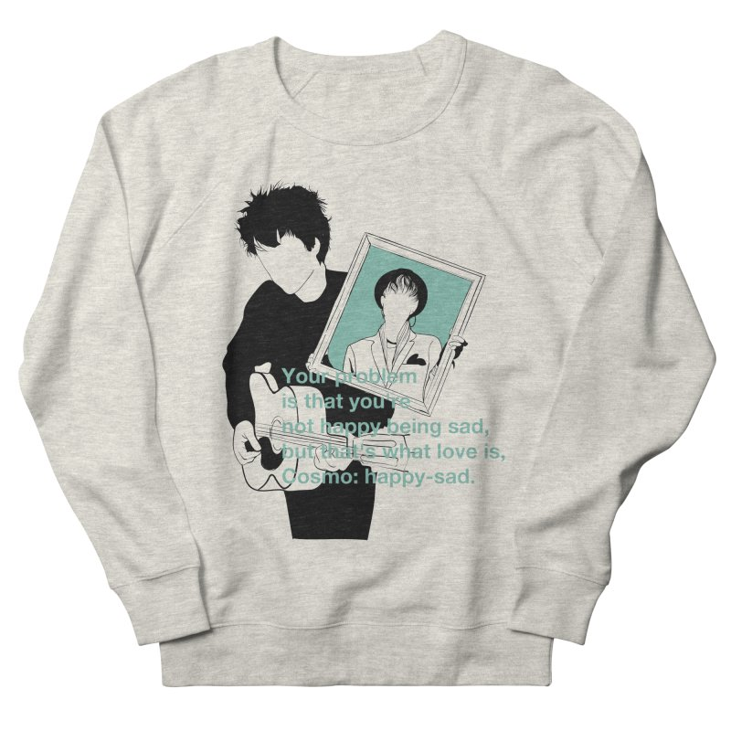 Cosmo: Happy-sad Men's French Terry Sweatshirt by quadrin's Artist Shop
