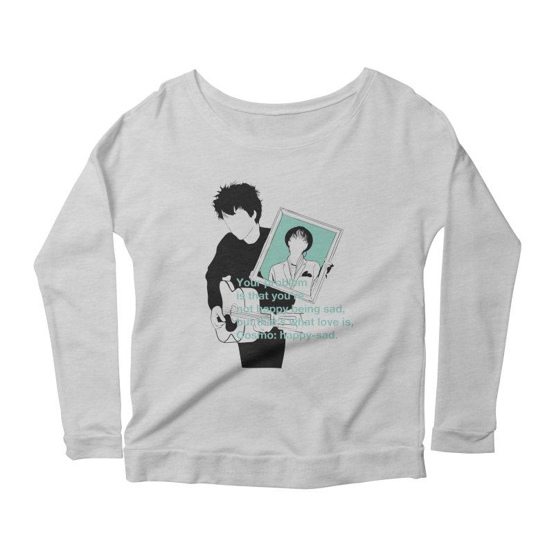 Cosmo: Happy-sad Women's Scoop Neck Longsleeve T-Shirt by quadrin's Artist Shop