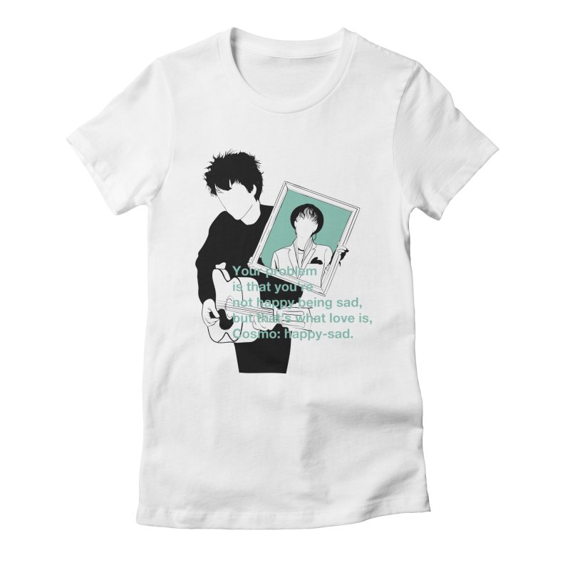 Cosmo: Happy-sad Women's Fitted T-Shirt by quadrin's Artist Shop