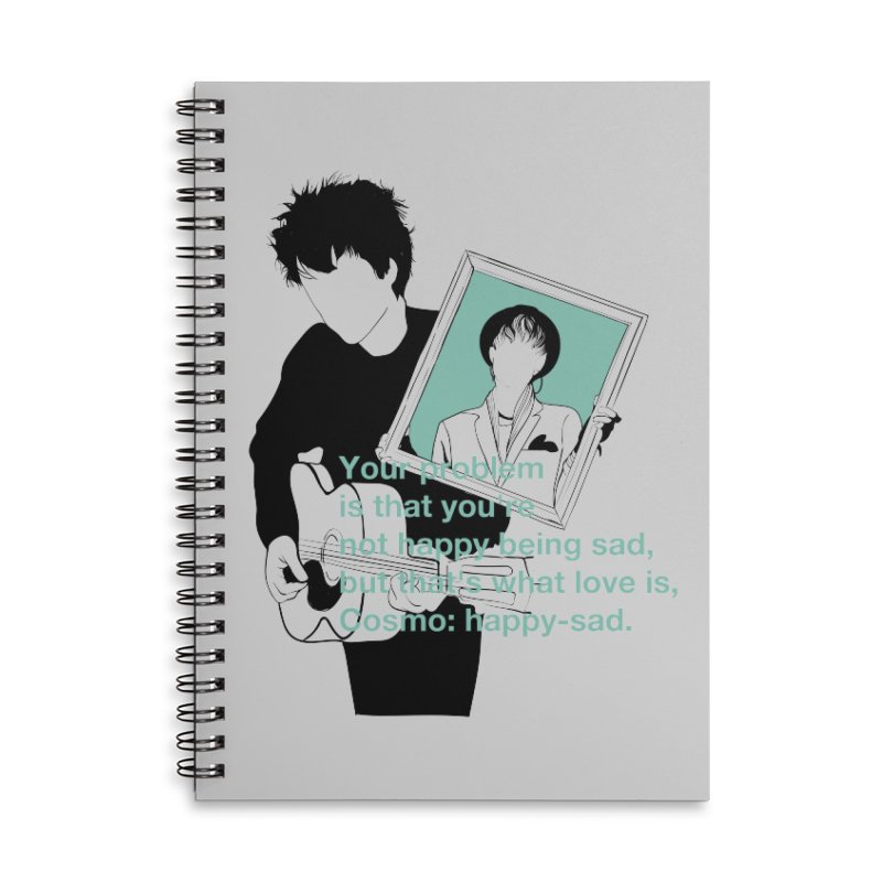 Cosmo: Happy-sad Accessories Lined Spiral Notebook by quadrin's Artist Shop