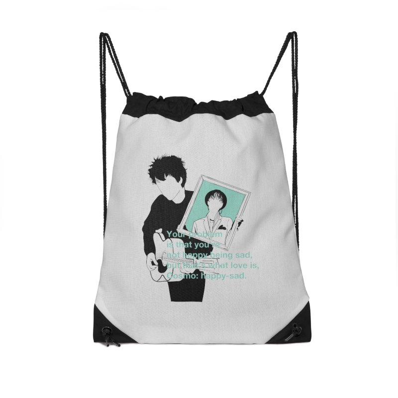 Cosmo: Happy-sad Accessories Drawstring Bag Bag by quadrin's Artist Shop