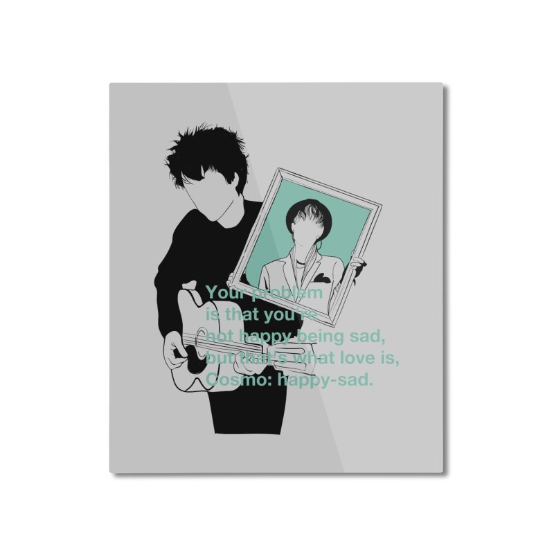 Cosmo: Happy-sad Home Mounted Aluminum Print by quadrin's Artist Shop