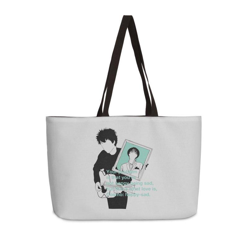 Cosmo: Happy-sad Accessories Weekender Bag Bag by quadrin's Artist Shop