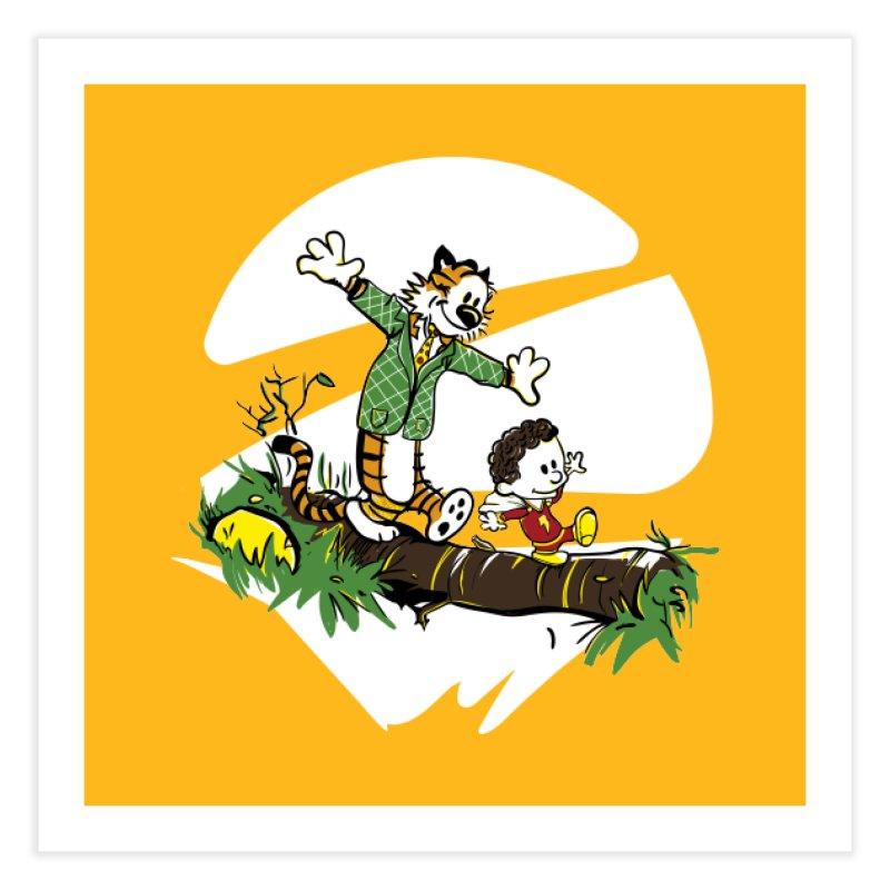 Shazam + Mister Tawky Tawny Home Fine Art Print by quadrin's Artist Shop
