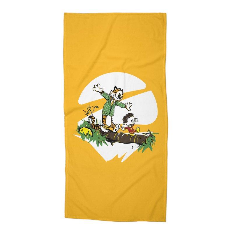 Shazam + Mister Tawky Tawny Accessories Beach Towel by quadrin's Artist Shop