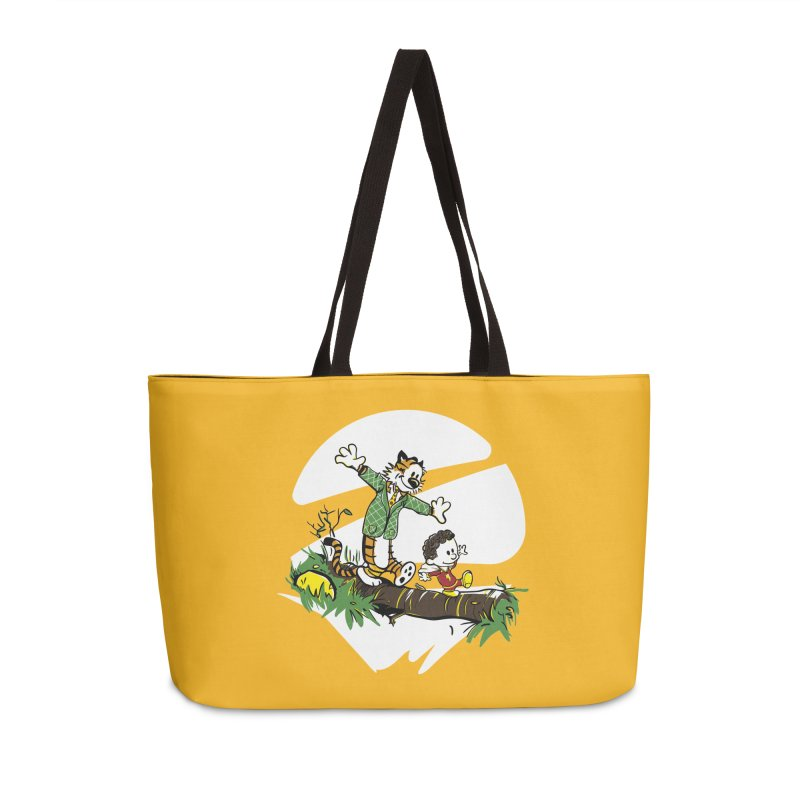 Shazam + Mister Tawky Tawny Accessories Weekender Bag Bag by quadrin's Artist Shop