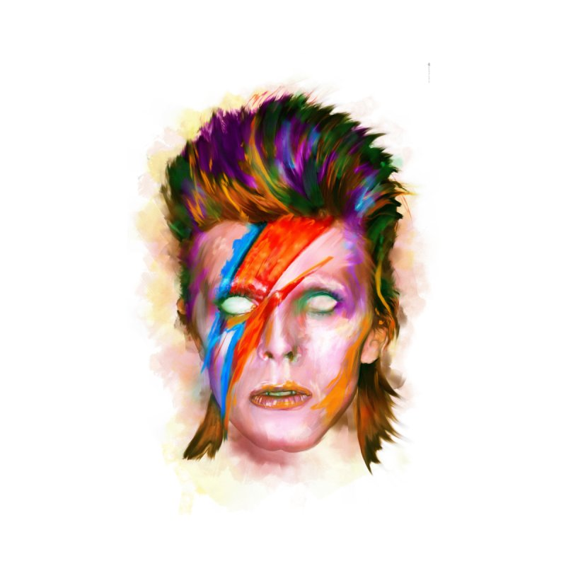 Ziggy Stardust Accessories Beach Towel by quadrin's Artist Shop