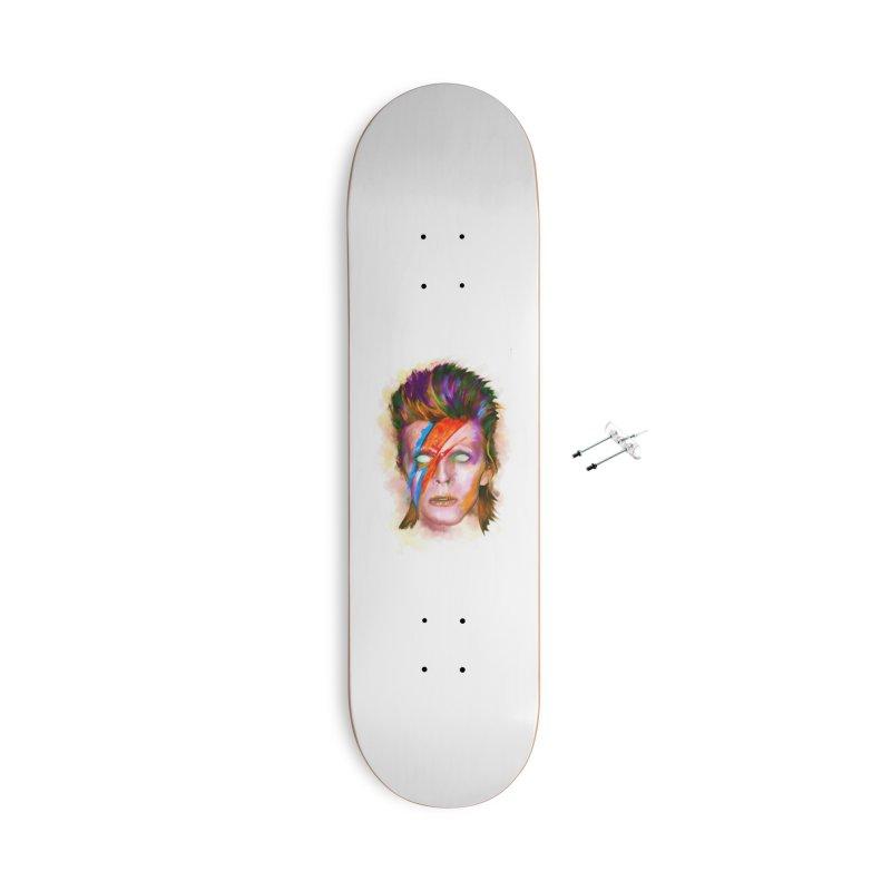 Ziggy Stardust Accessories Skateboard by quadrin's Artist Shop