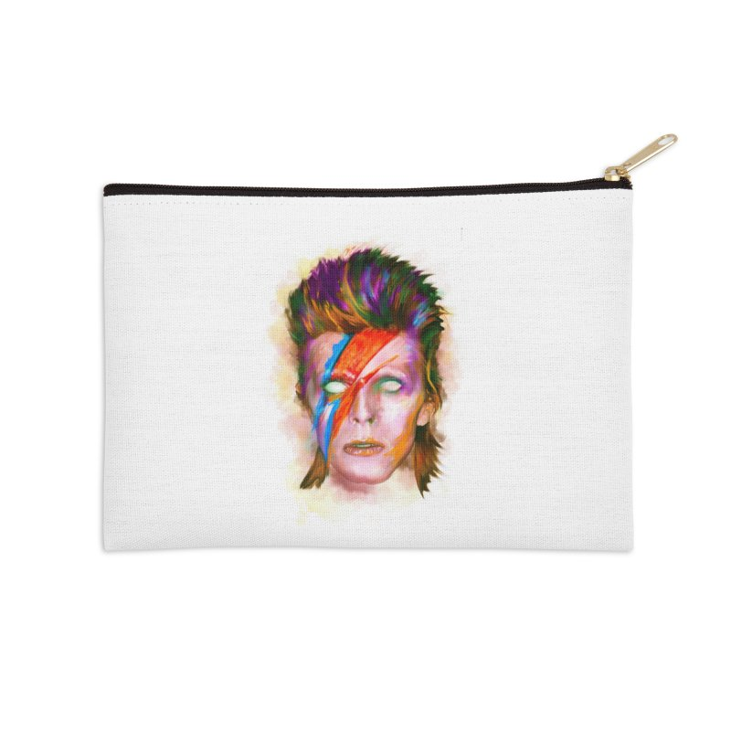 Ziggy Stardust Accessories Zip Pouch by quadrin's Artist Shop