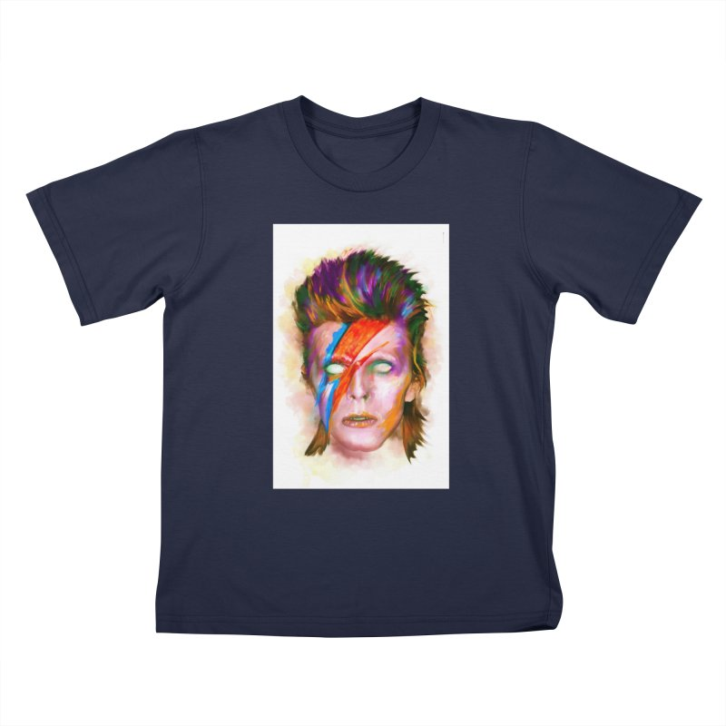 Ziggy Stardust Kids T-Shirt by quadrin's Artist Shop