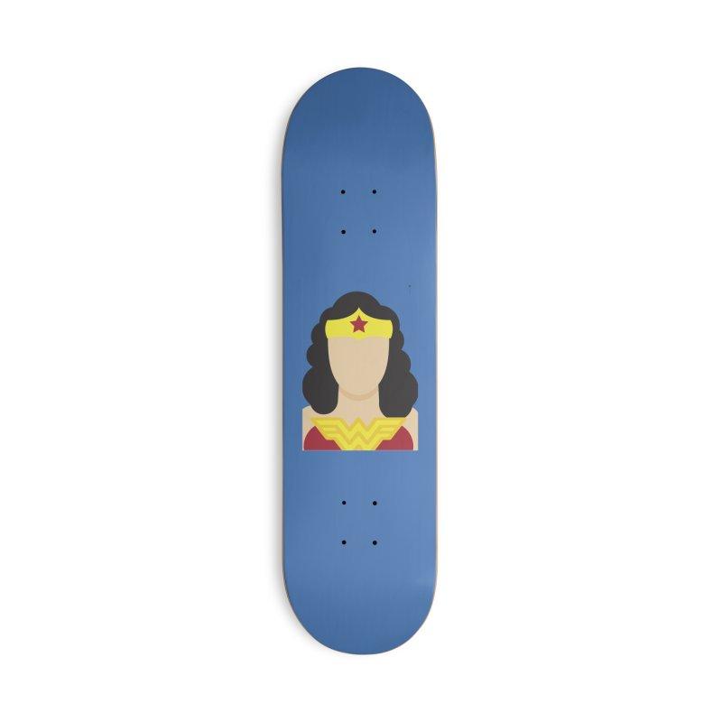 Wonder Woman Accessories Skateboard by quadrin's Artist Shop