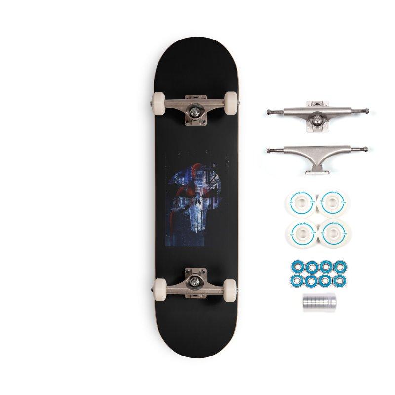 Daredevil Punisher Accessories Skateboard by quadrin's Artist Shop