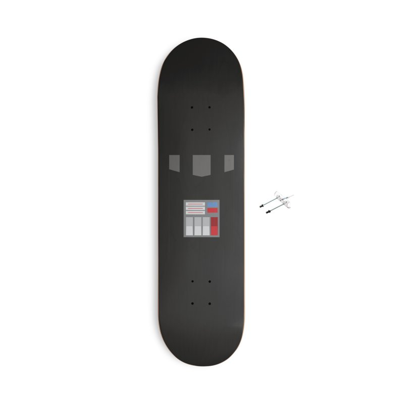 Vader - Minimalist Accessories Skateboard by quadrin's Artist Shop