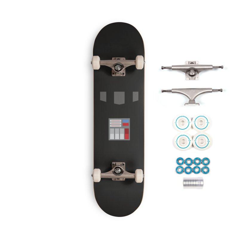 Vader - Minimalist Accessories Skateboard by quadrin's Artist Shop