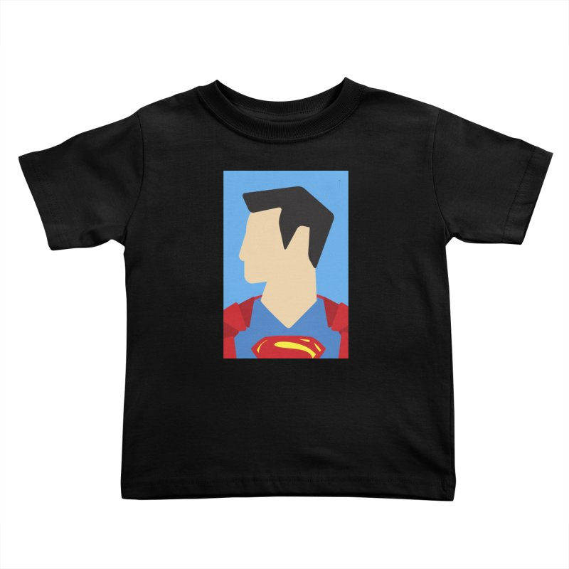 Superman - Minimalist Kids Toddler T-Shirt by quadrin's Artist Shop