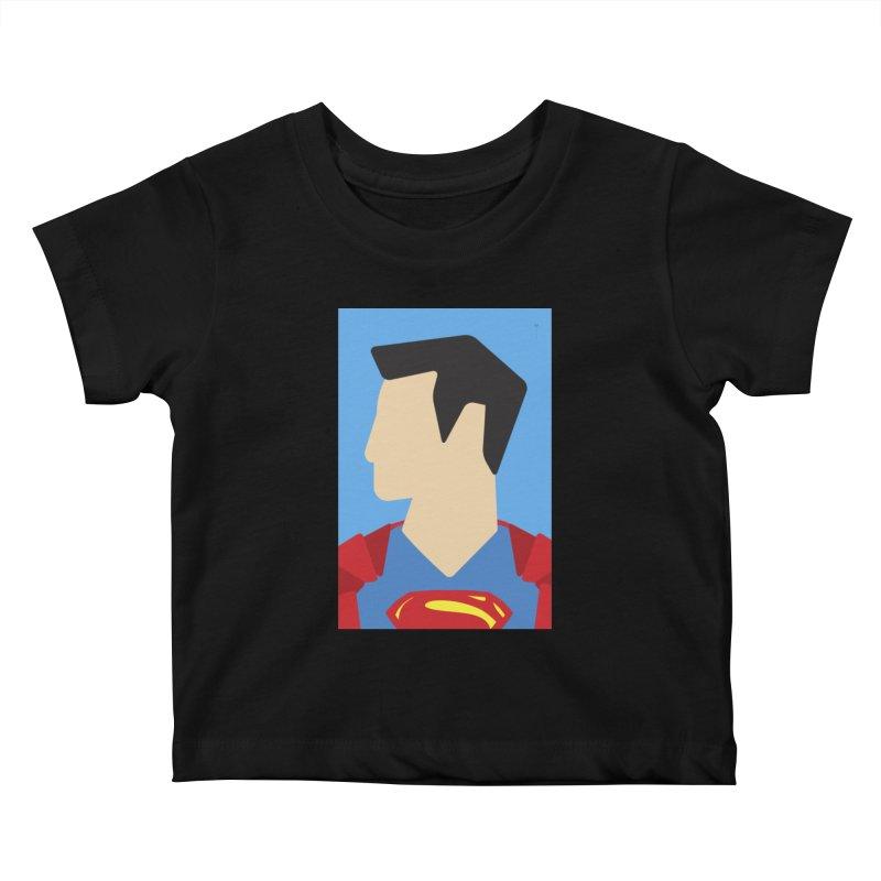 Superman - Minimalist Kids Baby T-Shirt by quadrin's Artist Shop
