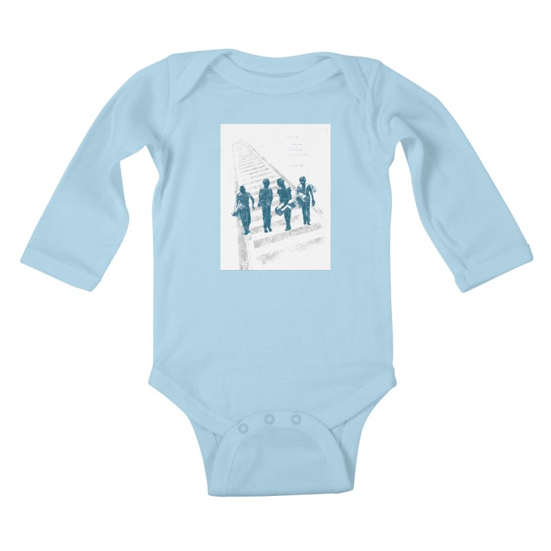 Stand by Me Kids Baby Longsleeve Bodysuit by quadrin's Artist Shop