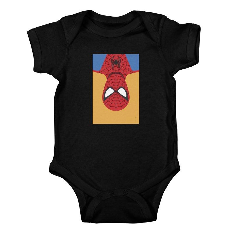 Spiderman - Minimalist Kids Baby Bodysuit by quadrin's Artist Shop