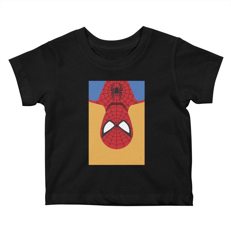 Spiderman - Minimalist Kids Baby T-Shirt by quadrin's Artist Shop