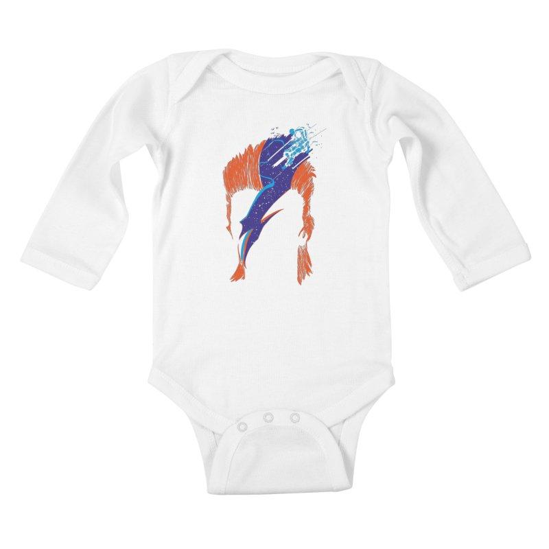 Space Oddity Kids Baby Longsleeve Bodysuit by quadrin's Artist Shop
