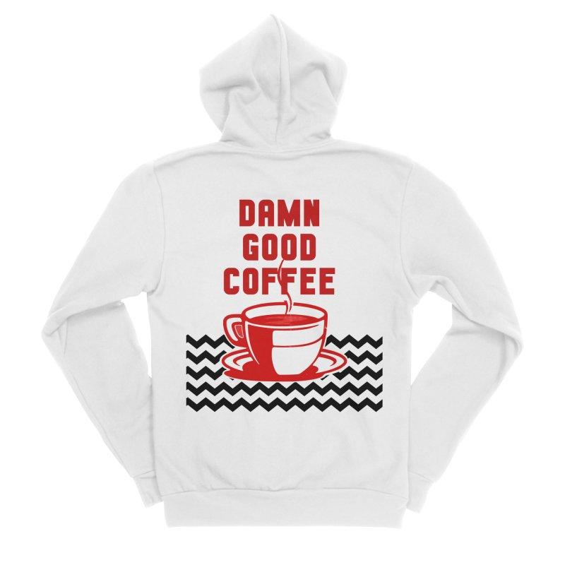Damn Good Coffee Men's Zip-Up Hoody by quadrin's Artist Shop