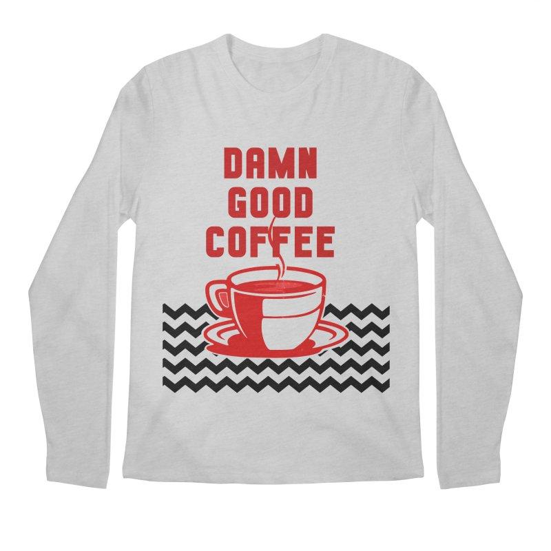 Damn Good Coffee Men's Longsleeve T-Shirt by quadrin's Artist Shop