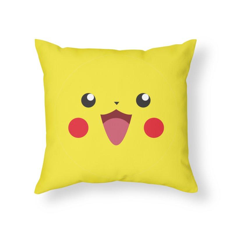 Pikachu Home Throw Pillow by quadrin's Artist Shop