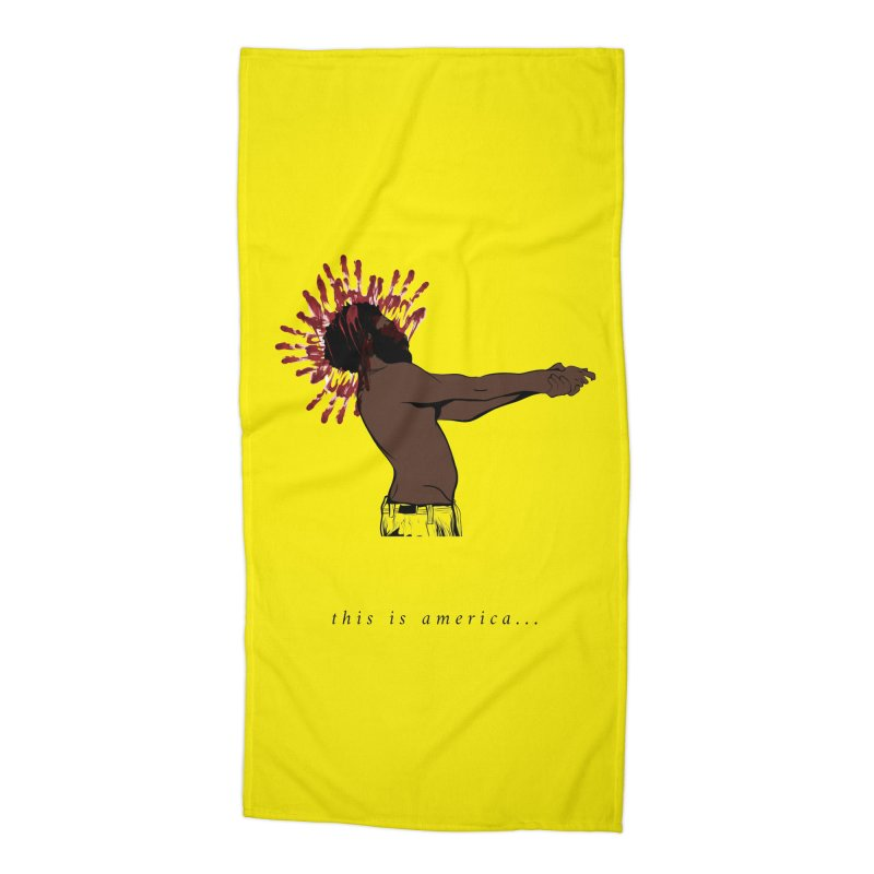 This is America Accessories Beach Towel by quadrin's Artist Shop