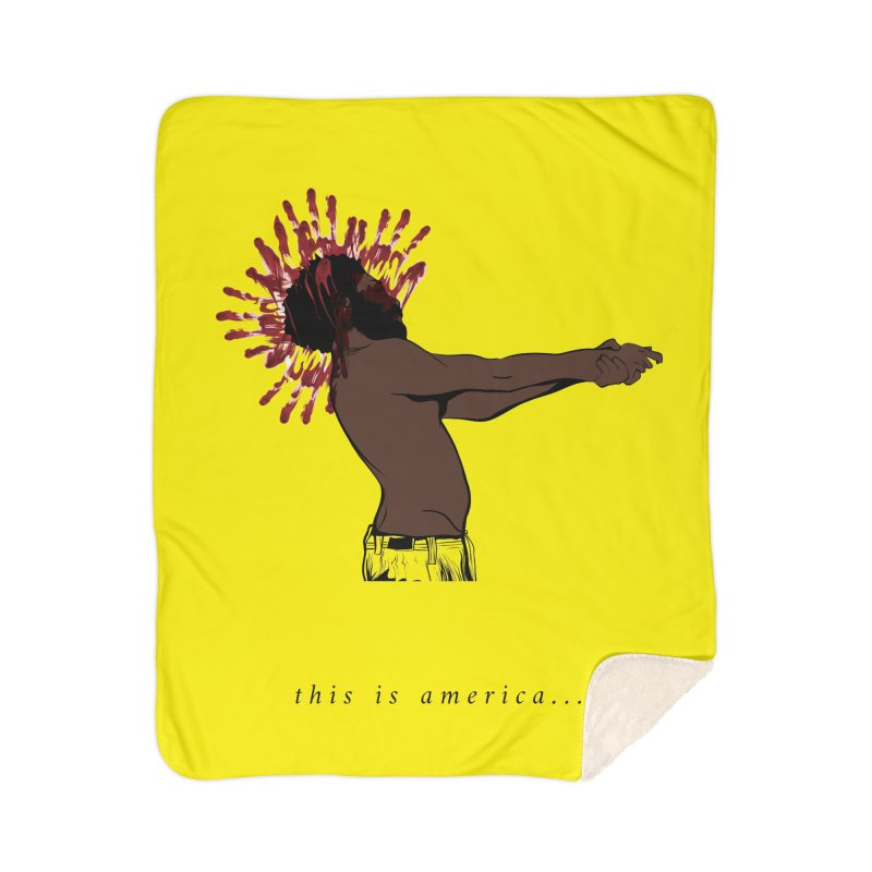 This is America Home Blanket by quadrin's Artist Shop
