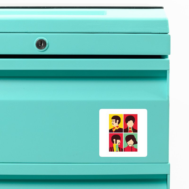 The Fab Four - Minimalist Accessories Magnet by quadrin's Artist Shop