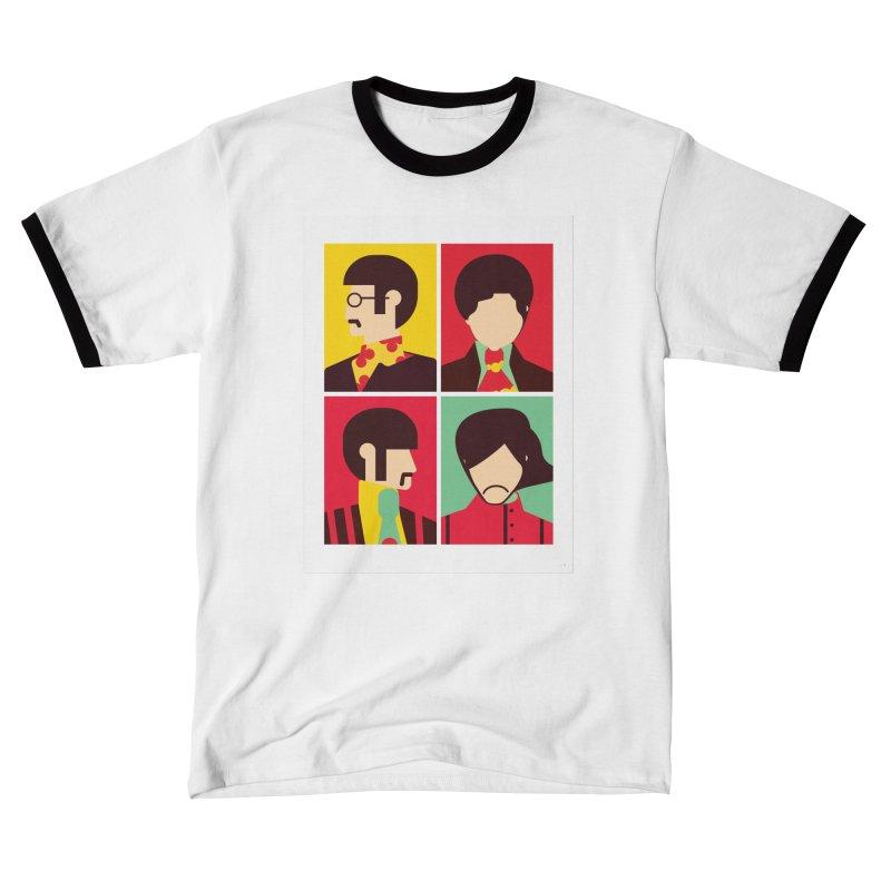 The Fab Four - Minimalist Men's T-Shirt by quadrin's Artist Shop