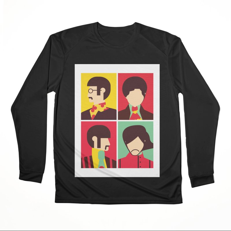 The Fab Four - Minimalist Men's Longsleeve T-Shirt by quadrin's Artist Shop