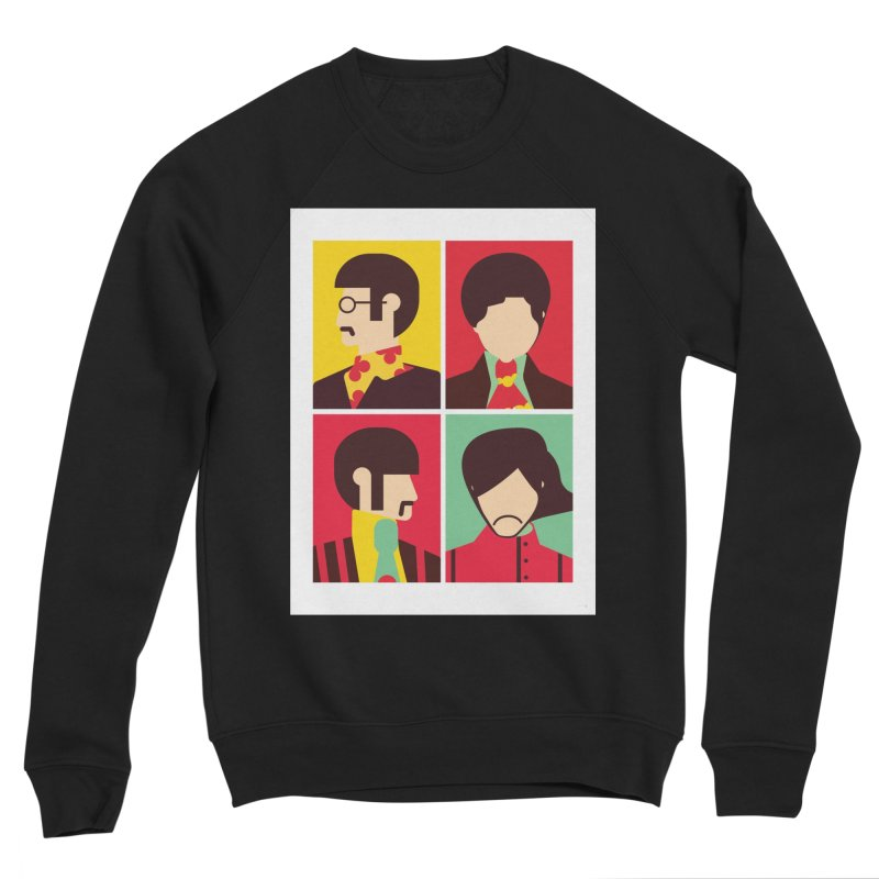 The Fab Four - Minimalist Men's Sweatshirt by quadrin's Artist Shop