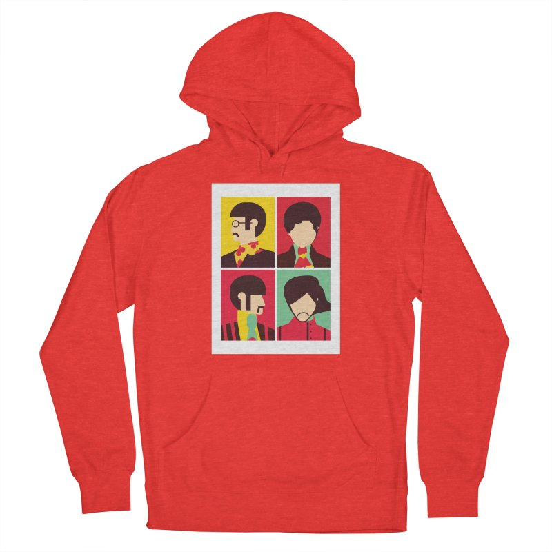 The Fab Four - Minimalist Men's Pullover Hoody by quadrin's Artist Shop