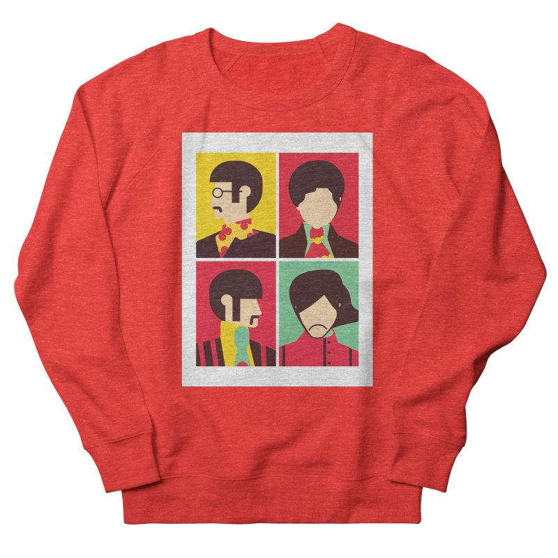 The Fab Four - Minimalist Men's Sweatshirt by quadrin's Artist Shop